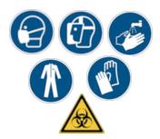 COVID-19 ISO 7010 Sicherheitsschilder