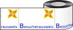 Sonderproduktion vorbedruckte Etiketten - z. B. Logo als Vordruck